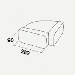 Переходник угловой горизонтальный 220х90