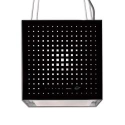 RUBIK E.ION IS GLASS BLACK 42cm, (вытяжка, островная, черное стекло)