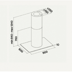 Стекло для POLAR ISOLA 90 см