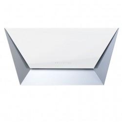 PRISMA WITHE 85 (вытяжка, пристенная, белое стекло+нерж.сталь)
