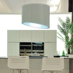 SPRING E.ION IS GLASS WHITE 80cm, (вытяжка, островная, белое стекло)