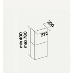 Воздуховод для TAB 60/80 INOX (272x205x780)
