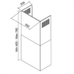 Воздуховод для QUASAR/GLEAM/DIAMANTE/FLIPPER/TAB80/PRISMA