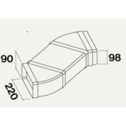 Воздуховод двойной горизонтальный для PIANO (220x90)