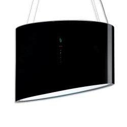 SPRING E.ION IS GLASS BLACK 80cm, (вытяжка, островная, черное стекло)